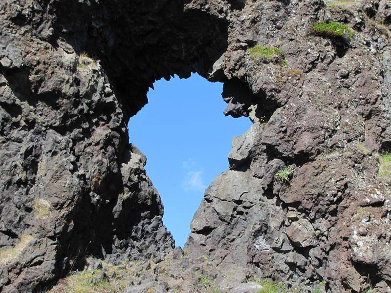 gap in lava